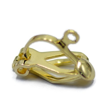 12 x Ohrclips Ohrringe Klapp Earwire Earring Clips Ohrclip Basteln Gold -