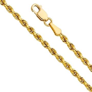 14 Karat / 585 Gelbgold Kordel Armband Unisex 4.40 mm. Breit -