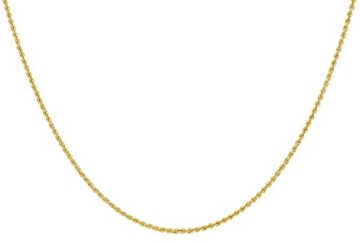 14 Karat / 585 Gold Kordelkette Gelbgold Unisex - 2 mm. Breit - Länge wählbar -