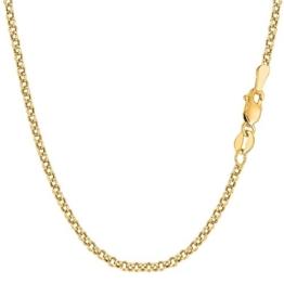 14 Karat / 585 Gold Rund Erbskette Rolo Link Gelbgold Kette Unisex - Breite 3.50 mm - Länge wählbar -