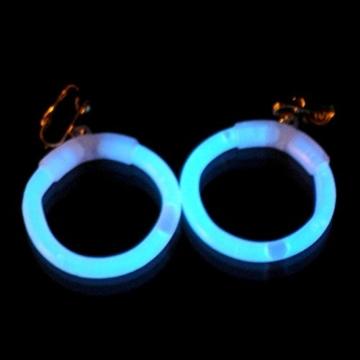 1paar Knicklichter Creolen Ohrringe KALTWEISS mit Ohrclip und wiederverwendbar -
