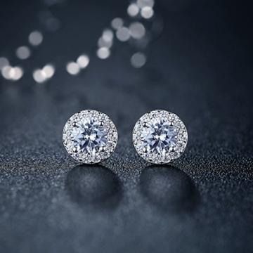 Abeillo Ohrringe 925 Sterling-Silber Ohrstecker mit Kristalle -