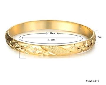 AnaZoz Modeschmuck Aramband 18K Gold Plattiert Armreifen für Damen Frauen -