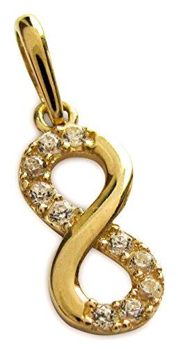 Anhänger Infinity Unendlichkeit echt 585 Gold Gelbgold 14 Karat -