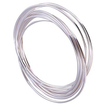 Armreif mit 7 geschlossenen Ringen, 925 Sterling Silber pl. -