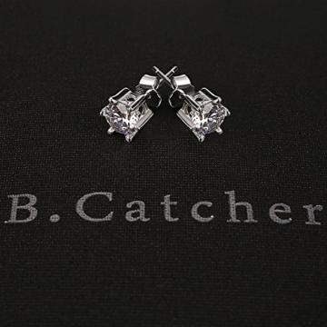 B.Catcher Damen Ohrringe 925 Sterling Silber Set Basic Ohrstecker Zirkonia mit Etui -