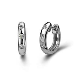 Blingery Ohrringe Sterlingsilber 925, Zirkonia, Strasssteine, für Frauen und Mädchen, 13 mm -