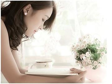 CS PRIORITY Ohrstecker Blumendesign hohe Qualität Kirschblüten - versilbert, ideales Geschenk für Damen -