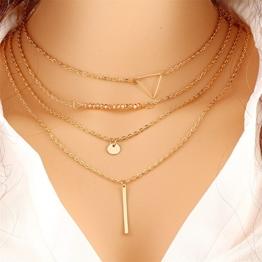 D-Trend Halskette Dreieck Anhänger Halsreif -
