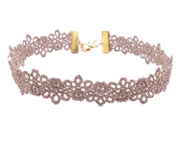 Da.Wa 10 Stück Halsketten Set Vintage Schwarze Klassische Gotische Tattoo Spitze Choker Halskette für Damen Mädchen -
