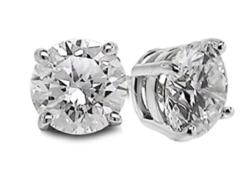 Diamond Studs Forever - Ohrstecker mit 1/4 ct. Diamanten GH/VS2-SI1 - Weißgold 14 Karat -