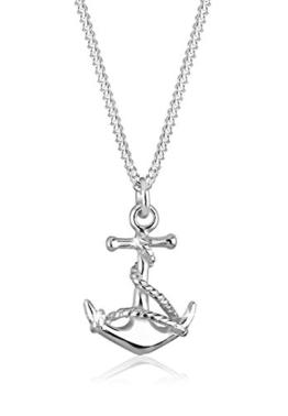 Elli Halskette Anker Symbol Maritim See 925 Sterling Silber 45cm -
