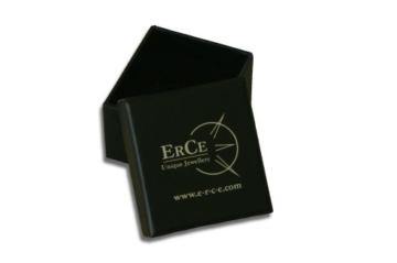 ERCE Ohrstecker rund mit Türkis 14 Karat Gold 585, Größe 6 mm, im Geschenketui -