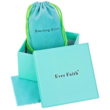 EVER FAITH® Damen 925 Sterling Silber CZ Süßwasser kultiviert Perle 8 Unendlichkeit Halskette Ohrringe Set -