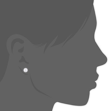 EVERU Einfache Ohrringe Damen 925 Sterling Silber AAAA Süßwasserperlen Perle Ohrstecker -