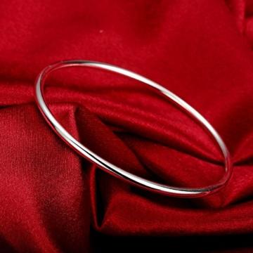 fjyouria Herren Edelstahl, versilberte Infinity dünn einfach Armreif Armband -