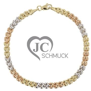 Goldarmband 585 Weiß-, Gelb-, Rosegold in 14 Karat Damen Armband ca. 20 cm Schmuck 3443 -