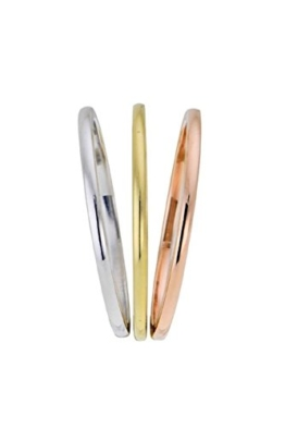 Goldring 585 Gold Massiv Gelbgold - Weißgold - Rosegold 14 Karat Damen Bandring - Ring - Vorsteckring ohne Stein Gr 48 bis 62 1,5mm -