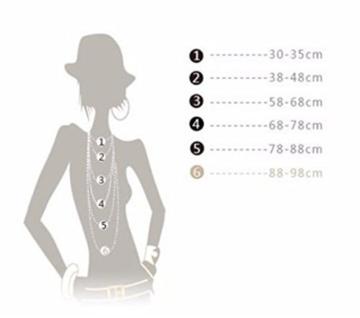 Halskette Gold Anhänger zum Einhängen Kreis Ring Modeschmuck Lang -