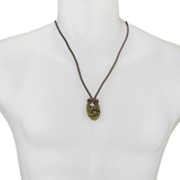 Halskette Lederhalskette Wave Welle Messing Herren Damen Unisex echtes Leder Surferhalskette Herrenhalskette Damenhalskette Unisexhalskette Halsschmuck Accessories -