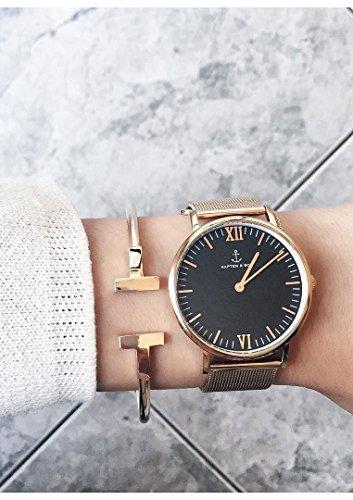 Happiness Boutique Damen Offener Armreif Rosegold Titan | Armband Minimalist Armschmuck für Frauen -