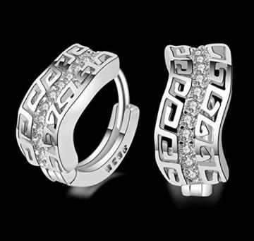hosaire 1Paar Fashion Charm Diamant Ohrringe Silber Schmuck Ohrringe Ohrstecker für Frauen Mädchen Geschenk -