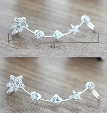 Hosaire 1 Paar Ohrringe Fashion Lovely Crystal Star ear clip Ohrring für No Ohr Löcher Damen Girl 's Jewelry Accessories -
