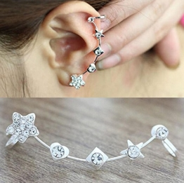 Hosaire 1 Paar Ohrringe Fashion Lovely Crystal Star ear clip Ohrring für No Ohr Löcher Damen Girl 's Jewelry Accessories -