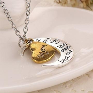 Hosaire 1 Stück Halskette Mode Heart-Form Schmuck Necklace Familienmitglied Anhänger Kette -