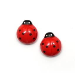 Idin Ohrclips - Rote Marienkäfer (ca. 15 x 15 mm) -