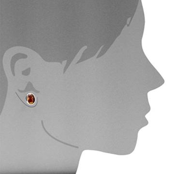 InCollections Damen-Ohrstecker 925 Sterling Silber 2 Bernsteine gelb 10 mm 0010263330100 -
