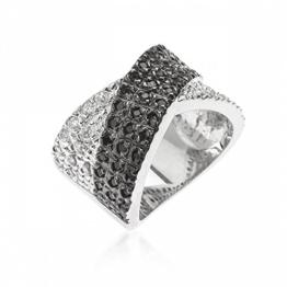ISADY - Crissia - Damen Ring - 14 Karat (585) Weißgold platiert rhodiniert - Zirkonium -