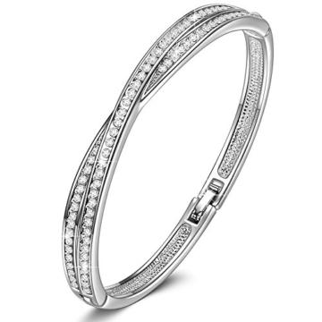 LADY COLOUR Kreuz Armband Damen mit Kristallen von Swarovski Schmuck muttertagsgeschenke Weihnachtsgeschenke geburtstagsgeschenke valentinstag geschenk geschenke für frauen mütter mama zum muttertag -