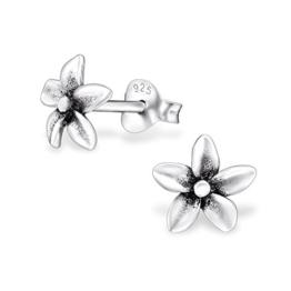 Laimons Damen-Ohrstecker Damenschmuck Blume Orchidee oxidiert Sterling Silber 925 -