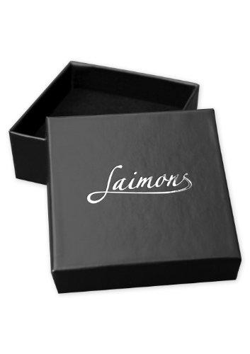 Laimons Damen-Ohrstecker rund Glitzer rot orange Sterling Silber 925 -