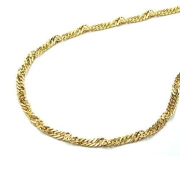 Latotsa 14 Karat 585 Gelbgold Gold Singapurkette Singapur Kette Halskette Goldkette Schmuck Collier 45cm -
