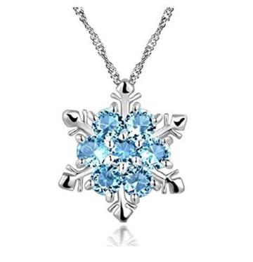 lumanuby Damen Ketten Mit Saphir Anhänger Halskette Diamant Mode schmuck Geschenk Für Mutter Freundin Liebhaber -
