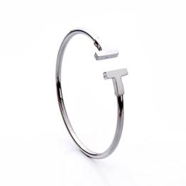 lureme® Xmas Minimal Retro-Stil Edelstahl Silber Ton einstellbar offene Armreif (06002483-1) -