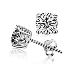 """Maysa Jewelry """" Kristall """" Damen Ohrringe / Ohrstecker aus 925 Sterling Silber mit Kristall Swarovski Element. Steingröße 6mm inkl. Box / Etui -"""