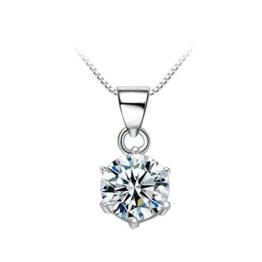 """Maysa Jewelry """" Luisa """" Damen Halskette mit Anhänger aus 925 Sterling Silber mit Kristall Swarovski Element. Silberkette Länge: 45 cm (18"""") -"""