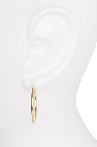 MyGold Damen-Creolen Gelbgold Weißgold Weissgold 333 / 585 Gold (8 Karat / 14 Karat) Ø 30mm ohne Steine Goldcreolen Goldohrringe Damenohrringe Ohrschmuck Paloma Blanca MOD-04114 -