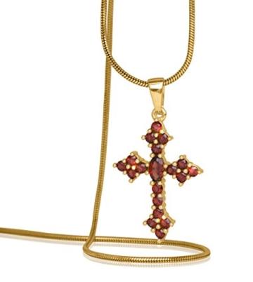 MyGold Granat-Anhänger (ohne Kette) Gold 585 Edelsteine Kreuz Hochglanz Glorian V0011511 -