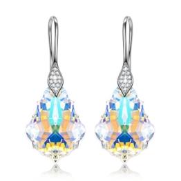 """NINASUN """"Aurora"""" 925 Sterling Silber Damen Ohrringe Gemacht mit Swarovski Kristallen Aurore Boreale -"""