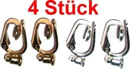 Ohrring / Ohrstecker Umwandler zum Ohr-Clip silber- und gold-farben (Mengenrabatt - je mehr desto preisgünstiger) (4) -