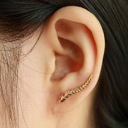 Ohrstecker Ohrhaken Gold Blatt -