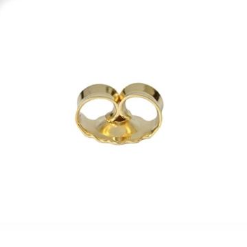 Ohrsteckerpoussette 5 mm 585er Gold Butterfly-Verschluss 14 Karat Ohrmutter -