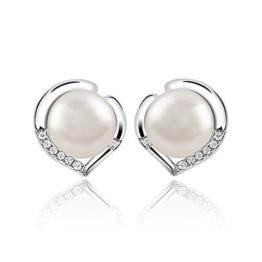 ONECK Damen Ohrstecker Ohrringe Set Basic 925 Sterling Silber mit süßwasserperlen -