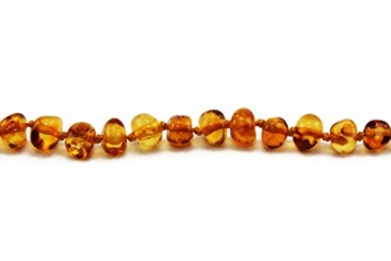 Primoyo Bernsteinkette (Honig) mit Steckverschluss – 100% echter Baltischer Bernstein – Länge 32 cm – ein tolles Geschenk! -