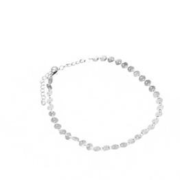 Saingace Frauen Sexy Denim Übertreibung mit Halskette (Silber) -