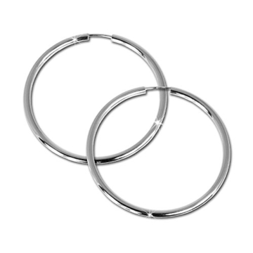 SilberDream Creole Simply 925 Sterling Silber 50mm Creolen Ohrringe SDO071 -